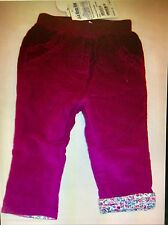 New w/Tags Girls' Pretty Cord Pull-Ups - Plum - 18-24 months
