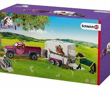 NEW Schleich Pony Horse Club Car Jeep Horse Box 42346 Trailer Stable Farm 4x4