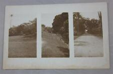 Oahu Hawaii Grass Fence Road B/W Vintage Postcard 1907 Or Later Real Photo Rppc