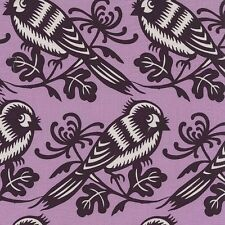 By 1/2 Yard  Michael Miller Cotton Fabric - Seedling Chirp in Orchid Thomas Paul