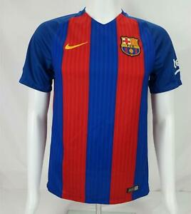 Nike Barcelona Fcb 2016 Authentique Football Foot Jersey Chemise Rouge / Blue S
