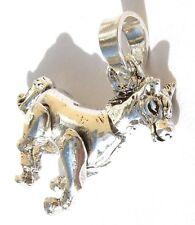MOVING HORSE - 925 Silber massiv galoppierendes  Pferd Anhänger alles beweglich
