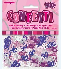 Confetti Happy 90th Birthday Glitz Pink M55465 Party Supplies Scatters