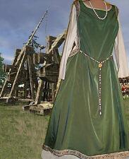 Medieval Renaissance SCA Garb Gown OliveSageCream SdlessSurcote Kirtle SzFlexLXL