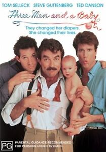 THREE MEN and a BABY starring Tom Selleck (DVD, 2002)