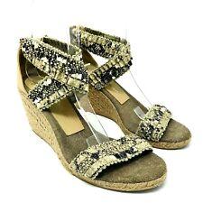 Jean Michel Cazabat Shoes Sz 37 6.5 Espadrilles Wedges Sandals Snake Print Spain