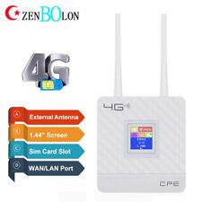 Unlocked 4G LTE Wireless Router Smart Home Phone Mobile WIFI Hotspot RJ45 Port