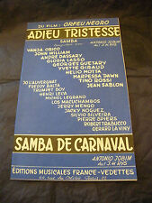 Partition Adieu Tristesse Jobim Samba de Carnaval 1959 Music Sheet