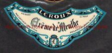 1940s PENNSYLVANIA Philadelphia Leroux & Co BLUE Creme De Menthe Label