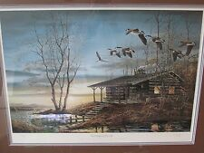 """Evening Retreat"" Limited Ed. Signed Print Terry Redlin Ducks Unlimited 676/3000"