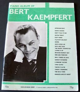 BERT KAEMPFERT NEW PIANO ALBUM SHEET MUSIC BOOK (1966) EASY ENGLAND