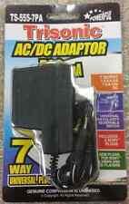 Universal 7 way AC/DC Power Adapter 1.5V 3V 4.5V 6V 9V 12V 2 Sony Plugs 500 mA