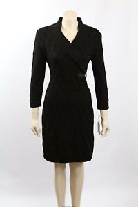 NEW Calvin Klein Size XL Black Cable Knit Knee-Length Sweaterdress -