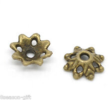 150 Gift Bronze Tone Flower Bead Caps Findings 8x3mm