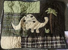 Pottery Barn Kids madras dinosaur dino quilted standard sham