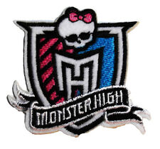 "Mattel's Monster High Logo Crest 2 1/2"" Tall Embroidered Patch"