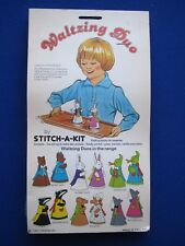 Vintage Sewing Felt Craft Toy Kit - Waltzing Duo  by STITCH-A-KIT  1970s Unused