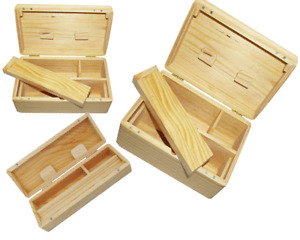 WOODEN ROLLING BOX ROLL BOX SMOKING STASH. ALL SIZES