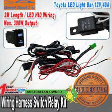 TOYOTA Heavy Duty LED Light Bar Wiring Loom Harness 40A Switch Relay Kit 12V