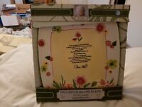 New In Box Paula Deen Collector Plate On The Veranda Precious Moments