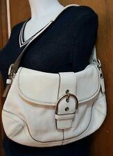 coach purse handbag ivory leather soho hobo shoulder bag classic purse medium