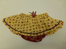Guess Baby Girls Size 18M Yellow & Red Woven Skirt with Bloomers Great Condition