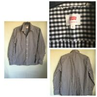 Levis Mens Plaid White/Black Cotton/Elastane Long Sleeve Shirt L(B362)