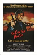 1984 THE EVIL THAT MEN DO vintage movie poster CHARLES BRONSON 24X36 action