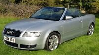 Audi A4 Convertible 1.8 Manual FSH One year MOT excellent condition