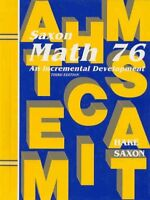 Saxon Math 7/6 by Saxon