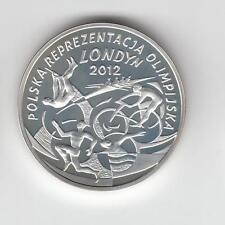 2012 Poland 10 zl silver Proof coin Polish Olympic Team London 2012