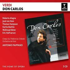 DON CARLOS - ALAGNA/VAN DAM/HAMPSON/PAPPANO/OP HOME OF OPERA 3 CD NEW!