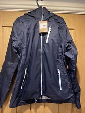 Ladies Waterproof Jacket Coat Anorak Hi-tec Medium Blue