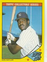 FREE SHIPPING-MINT-1986 (YANKEES) Woolworth's #2 Don Baylor SUPERSTAR