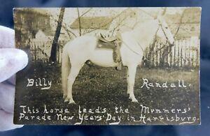 Harrisburg, PA - Mechanicsburg, PA - Mummers Parade - RPPC - Parade Horse