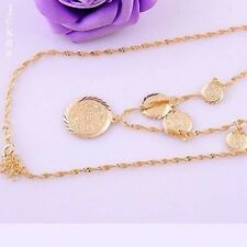 New  Excellent Necklace 14K Gold Filled  Design fashion Coin Pendant Jewelry
