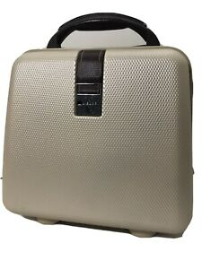 """Delsey Hard Shell Carry On Travel Make up Work Luggage Bag - 12.5""""Lx7.5""""Wx15""""H"""
