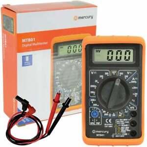 Compact Digital Multitester + Test Leads Battery & Shockproof Case Multi Tester