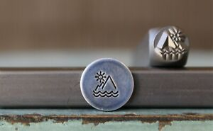 SUPPLY GUY 6mm Mountain Scene Metal Punch Design Stamp SGCH-406