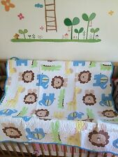 Forest Zoo Jungle Cot bedSofa/Chair/Bed Throw/Blanket Lion Elephant Giraffe