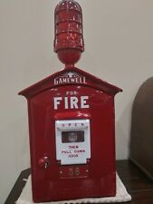 Vintage Gamewell Fire Alarm Call Box With Red Light