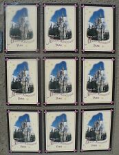 Magic Kingdom Disney Trivia Trading Cards 1996 Set Of 9
