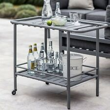 Retro Vintage Steel Metal Drinks Trolley Food Beverage Trolly Service Cart UK