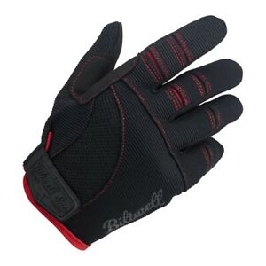 Biltwell Black/Red Moto Gloves