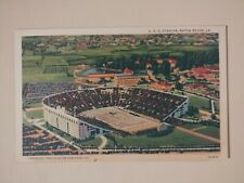 Vintage Linen Postcard LSU Stadium Baton Rouge