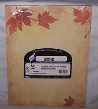 Letterhead Computer Printer Paper Stationary Fall Leaves Autumn 100 ct.