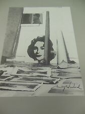 """ANDY WARHOL HAND SIGNED SPECIAL PRINT IN BLACK PEN """"GALLERY""""  WITH COA FROM 1969"""