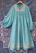 ❀ PHOOL Vintage indien robe de coton Boho S 10 8 6 4 Hippy Festival Ethnique gaze Folk