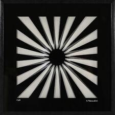 Marcello morandini-composición-autografiada y numeradas en un sofisticado marco