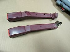 1992 93 94 95 96 97 98 GMC CHEVY SUBURBAN / TRUCK SEAT BELT PAIR L/R BENDIX RED